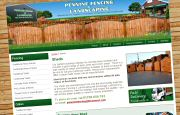 Content Managed Website Design - Pennine Fencing Rochdale