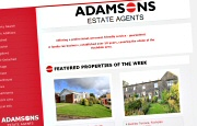 Estate Agent Website Design - Adamsons Estates