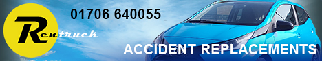 Rentruck. Accident Replacements. For booking enquiries call us on: 01706 640055