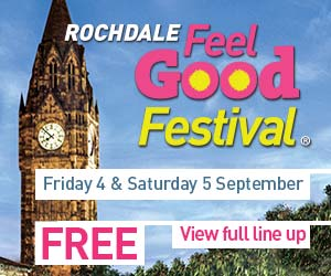Rochdale Feel Good Festival. Friday 4 & Saturday 5 September. Free entry. View full line up.