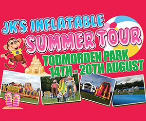 Inflatable Summer Tour. Centre Vale Park, Todmorden 14 August - 20 August from 10.30am every day. We have an assault course, obstacle courses, slides, mega slides, castles and much more.