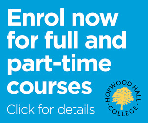Hopwood Hall College. Enrol Now for full and part time courses.