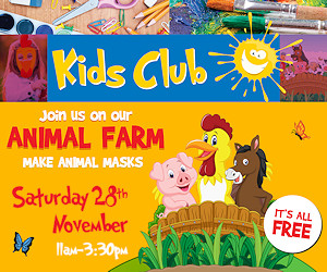 Wheatsheaf Kids Club. Join us on our Animal Farm. Saturday 28 November 2015 at Wheatsheaf Shopping Centre