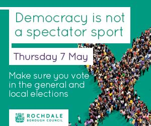Democracy is not a spectator sport. Thursday 7 May. Make sure you vote in the general and local elections.