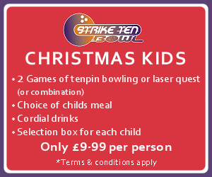 Strike Ten Bowl. CHRISTMAS KIDS
