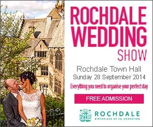 Rochdale Wedding Show. 28 September 2014, 11am - 4pm Rochdale Town Hall, The Esplanade, Rochdale, OL16 1AB. FREE entry. Everything you need to organise your perfect day.
