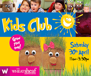 April Kids club at the Wheatsheaf Centre - Grow your own grasshead