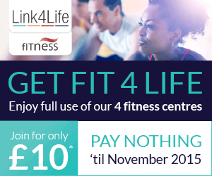 Get fit 4 life. Enjoy full use of our 4 fitness centres. Join for only �10. Pay nothing til 1 November 2015