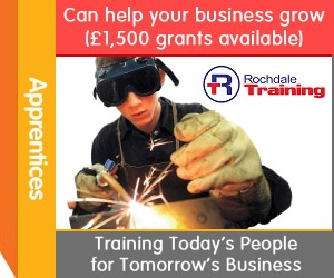 Apprentices can help your business grow (�1,500 grants available). Rochdale Training. Training Today�s People for Tomorrow�s Business.