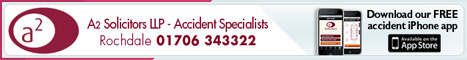 A2 Solicitors LLP Accident Specialists Rochdale 01706 343322. Download our FREE Accident iPhone app.