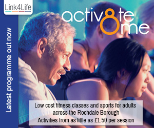 Link4Life - Activ8te Me. Low cost fitness classes and sports for adults across the Rochdale Borough.