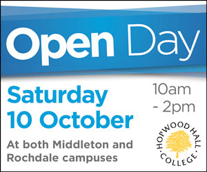 Hopwood Hall Open Day. Saturday 10 October 10am - 2pm.