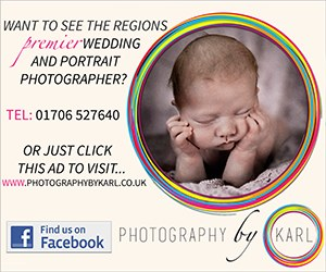 Want to see the region's premier wedding and portrait photographer? Tel 01706 527640 or just click this ad to visit www.photographybykarl.co.uk