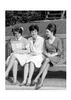 Bridie Hoare, a friend and Rose Keveny.  (early sixties)
