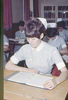 This student was portrayed on large bill boards advertising nursing as a career in the sixties.