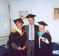 Linda Bailey, Geoff Smith, Val Kenyon.
