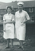 Staff Nurse Sheila Naylor & Sister Gloria Marsh.