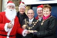 The Mayor and Mayoress of Rochale with members of STORM Photographer: Laura Wild. Copyright: Rochdale Online