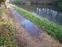 Resurfest area of canal path after heavy rain