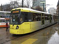 new tram 3002 at St Peters Square D Armstrong