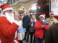 Santa at Victoria station in 2009