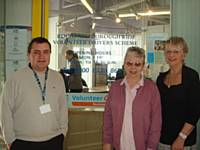 Volunteer Centre staff outside the office at the Bus Station