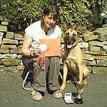 Cath with Morgan winning the Working Dog Stake in Scotland Image