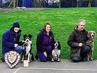 On Track members gaining 1st, 2nd and 3rd places at the North West Dog of the Year 2007 - Audra with Riley, Deana with Magic and Dave with Etta Image