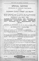 A copy of the original closure notice.