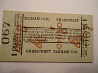 An original ticket for the LMS railmotor service on the Delph branch.