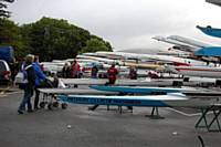 Lakebank Car Park Packed with Club Trailers