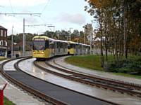 Leaving Westwood stop for the end of the line at Featherstall road and turn  back are trams 3069 and 3067 Photo F Doyle