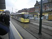 Tram 3010 at the new Oldham Mumps stop.  Photo J Dillon