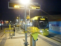 The First Public Tram At Rochdale Interchange. R S Greenwood