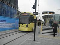 The newly opened Rochdale Metrolink stop on Monday 31 March 2014. J Dillon