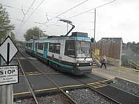 Tram 2001 at Abraham Moss (Outbound). J Dillon
