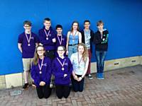 2014 under 14's with medals
