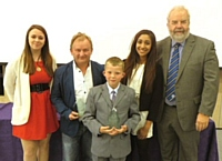 Emma O'Donnell, Glen Prendergast (Rotary's Citizen of the Year 2014), Connor Dunning (Rotary's Young Citizen of the Year 2014), Isha Khan and Graham Rawlinson - 24 June 2014