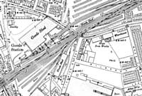Map showing  Rochdale East Junction 1908.  HMSO?
