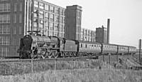 Royal Scot 46130 Bradford-Southport stopping train at Gypsy Lane, Castleton on 16 September 1961 R S Greenwood