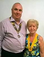 President Ged Heatherington with Incoming President Janice Powell June 2016 - Photograph courtesy of Rochdale Online Ltd
