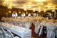 Our self-contained Wedding Venue, The Rhydding Suite, ready for a reception