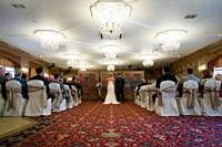 Our self-contained Wedding Venue, The Rhydding Suite, ready for a ceremony