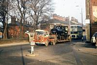 p2. LYR Pug enroute to Newton Heath shed on 13 February 1967 on Oldham Road Rochdale.  RS Greenwood