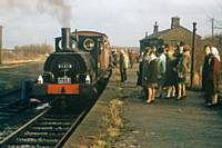 P6. LYR Pug 51218 propels the brake van trip at Shawclough, Rochdale on Sunday 19 February 1967. RS Greenwood