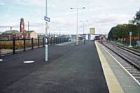The newly opened platform 4 at Rochdale seen from the West end, the Castleton end, towards Yorkshire, on 1st November 2016.  RS Greenwood