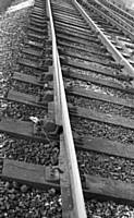 An Expansion or Breathing Switch in the track in the down main line at Castleton on the 27th April 1960. RS Greenwood