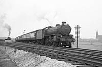 Photo 2 B1 class number 61018 in charge of an excursion which started at Lightcliffe, at Castleton South Junction.  RS Greenwood