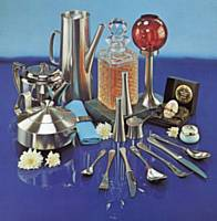 Old Hall stainless steel tableware montage of items 1980.