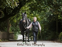 Photoshoot winner, Diane Wood and her horse Arthur